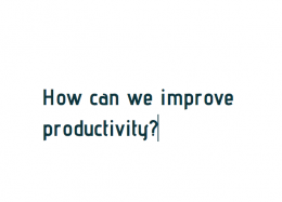 How can we improve productivity